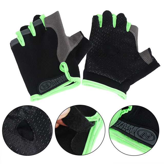 Half Fingerless Gloves Non-slip Sport Mittens Cycling Gloves Bicycle Sport Wrist Wrap Gym Gloves for Fitness Body Building 2