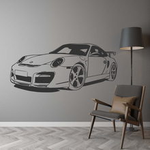 Classic Car Wall Sticker For Boy Bedroom Decor Kids Room Decoration Vinyl Roadster Vinyl Wall Decor Stickers Mural Poster classic car wall sticker for boy bedroom decor kids room decoration vinyl roadster vinyl wall decor stickers mural poster