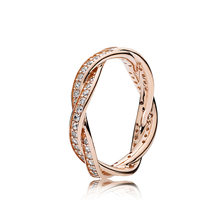 S925 Sterling Silver Rose Gold Fate Wheel Ring Fashion Couple Ring Wild Match Ring Female(China)