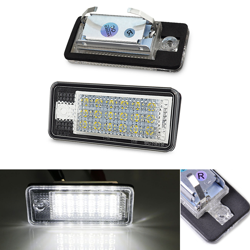 2Pcs Car <font><b>LED</b></font> Number License Plate Light White <font><b>Led</b></font> Lamps Error Free For <font><b>Audi</b></font> A3 S3 A4 B6 B7 S4 A5 A6 S6 C6 <font><b>A8</b></font> <font><b>D3</b></font> Q7 RS4 RS6 Avant image
