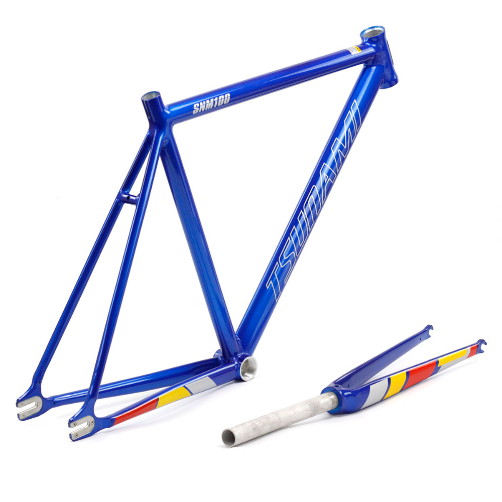 Aluminum Fixed Gear Frame Fork Road Track 700c 50cm 52cm 54cm 56cm Fixie Frame Track High Quality Bicycle Parts Frameset