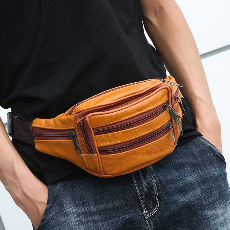 Phone Belly Banana Bum Hip Chest Belt For Men Women Waist Bag Male Female Leather Fanny Pack Pouch Murse Purse Kidney Canguro