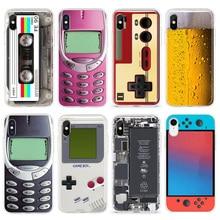 Funda de teléfono de TPU para iPhone, funda de silicona suave y divertida para iPhone X XS Max XR 11 Pro 7 8 Plus 6 6S SE 2020 Beer Gameboy