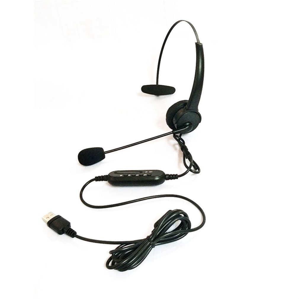 2018 Hot USB Headset with Microphone Rotatable Adjustable Noise Canceling Earphone Call Center Headset Earphone for PC Laptop