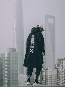 UNSETTLE Japanese Sweatshirt Outwear Hoodies Cloak Streetwear-Coat Oversize Hip-Hop Harajuku-Style