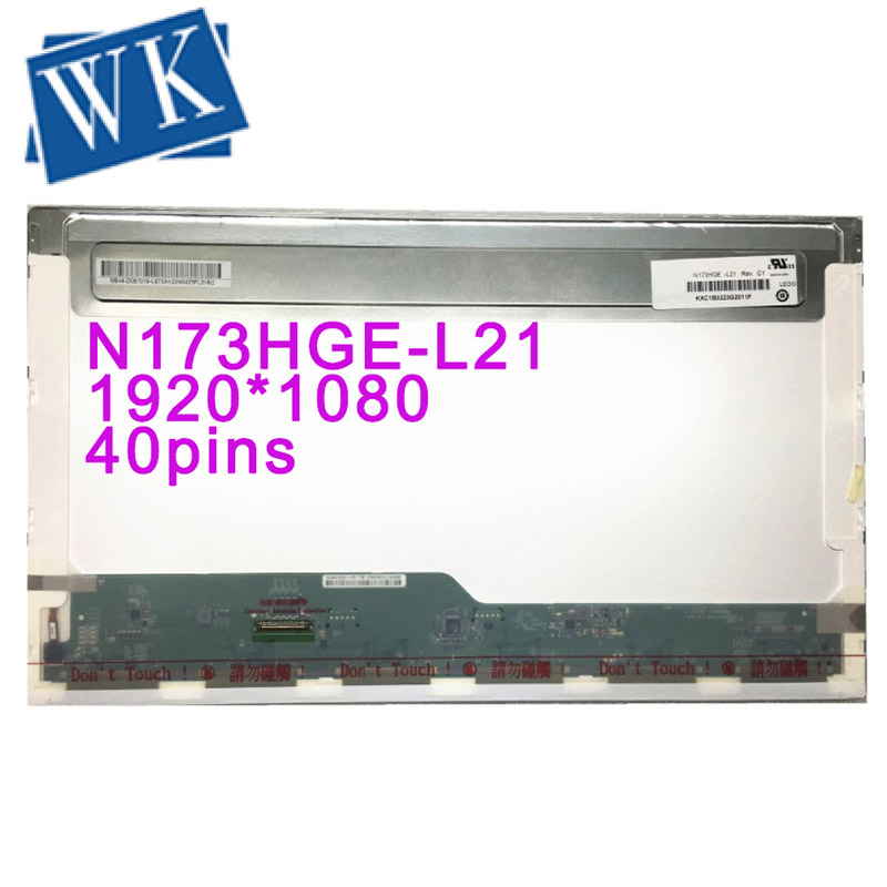Free Shipping N173HGE-L21 N173HGE-L11 B173HW01 V.0 V.2 V.5 B173WH02 V.0 LP173WF1-TLA1 TLA2 HSD173PUW1 A00 1920*1080 With 40 Pin