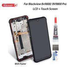 Alesser Blackview BV9800 LCD ekran + dokunmatik ekran + çerçeve meclisi onarım parçaları + araçları + yapıştırıcı Blackview BV9800 pro
