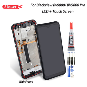 Image 1 - Alesser For Blackview BV9800 LCD Display + Touch Screen + Frame Assembly Repair Parts +Tools +Adhesive For Blackview BV9800 Pro