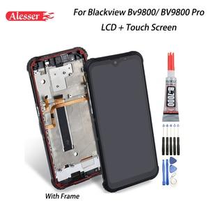 Image 1 - Alesser para blackview bv9800 display lcd + tela de toque montagem do quadro peças reparo ferramentas adesivo para blackview bv9800 pro