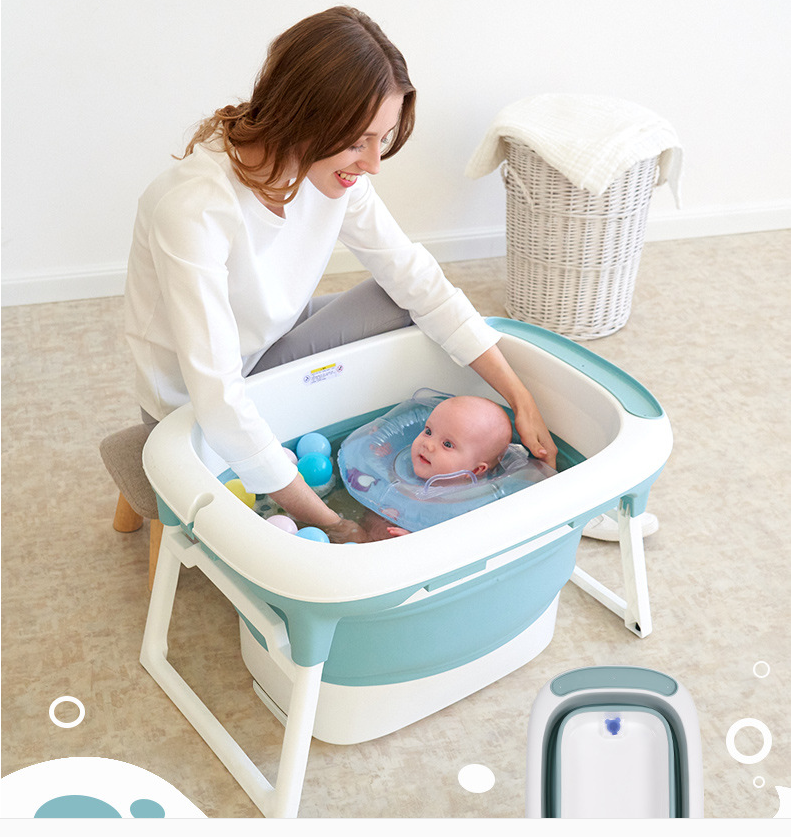 Newborn Baby Products Baby Folding Bathtub Can Sit And Lie In The Baby Bath