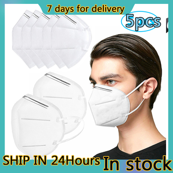 KN95 Protective Mask 5pcs KN95 Masks Air Purifying Dust Pollution Vented Respirator Face Mouth Masks 7 Days Delivery tanie i dobre opinie Wiatroszczelna Polyester