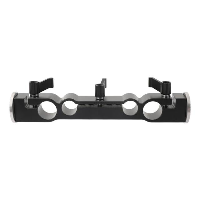 Kayulin 15mm & 19mm Dual port Rod Clamp With Double Ended M6 ARRI Style Rosette Mount for camera support rig kit