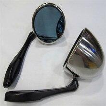 Retro argento shell Corsa Drifting Rally Della Copertura Dello Specchio Con Blu di Vetro dello specchio di retrovisione fit per Foreste due pc