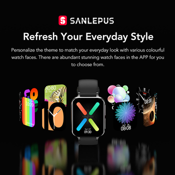 SANLEPUS 2021 Smart Watch Men Women Waterproof Watches Bluetooth Call Smartwatch MP3 Player For OPPO Android Apple Xiaomi Huawei 4