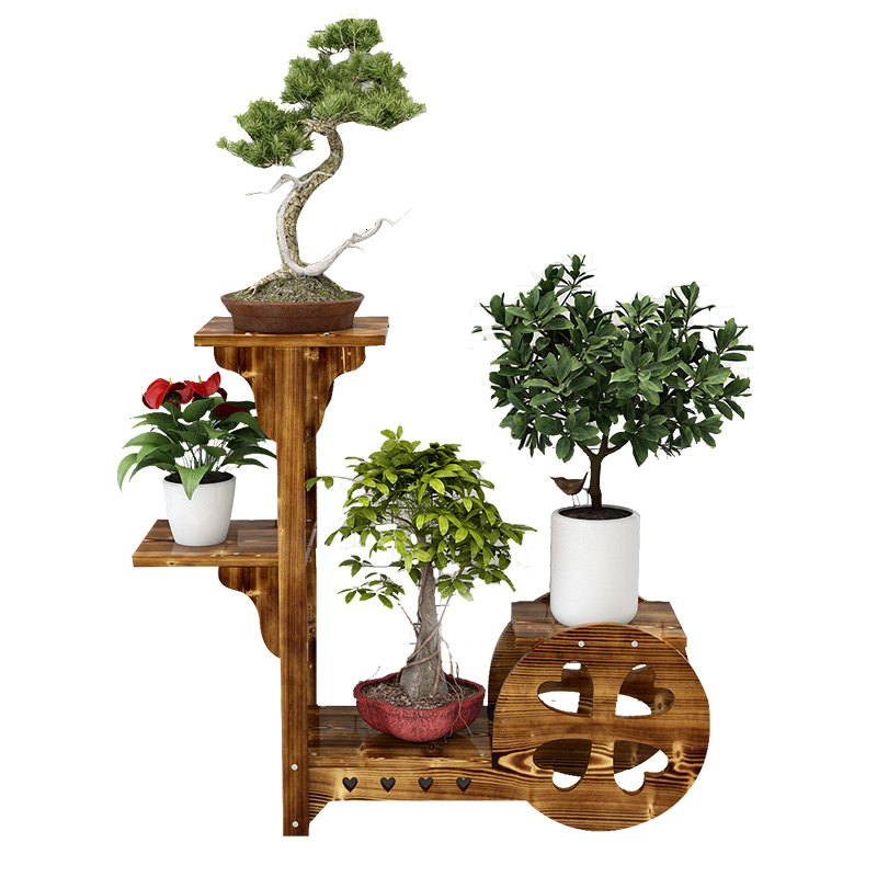 Anticorrosive Originality Multi-storey Province Space Wood Type A Living Room Balcony Indoor  Flowerpot Frame