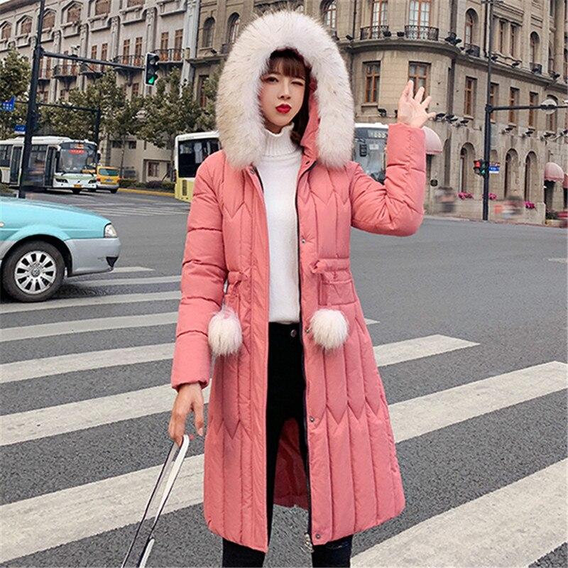 Winter Jacket Women Fashion Korean Cotton padded Puffer Jacket Plus Size Winter Coat Women Woman Parkas Fur Hooded Coat Jackets in Parkas from Women 39 s Clothing