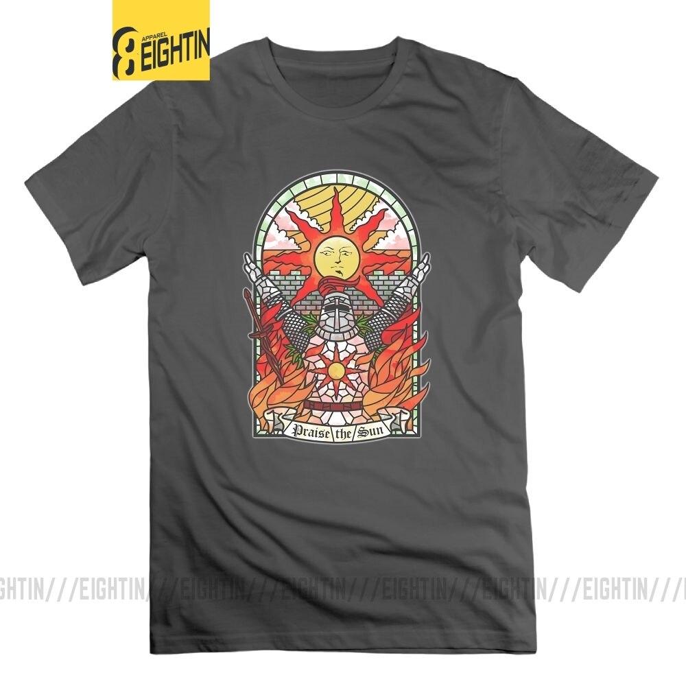 T-Shirt âmes sombres Artorias de l'abîme Solaire d'astora louez le soleil homme T-Shirt O cou t-shirts 100% coton grande taille