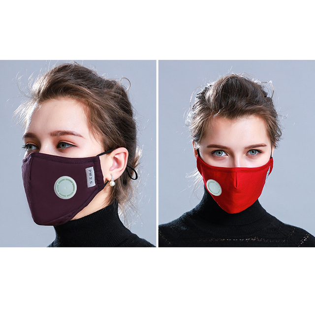 1Pcs BYEPAIN Fashion Man Woman Cotton Breath Valve PM2.5 Face Mouth Mask Activated carbon filter respirator Mouth-muffle 1