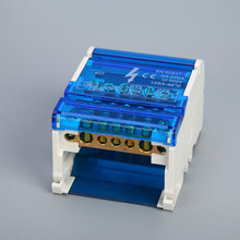 Junction-Box Enclosure Terminal-Block Cabinet Copper Plastic Waterproof 1pc Two-Bus 125A