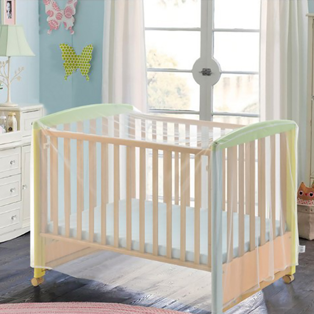 Baby Bed Nets Summer Insect Accessories Portable Crib Cover Mosquito Net Cot White Bedding Polyester Mesh Home Foldable