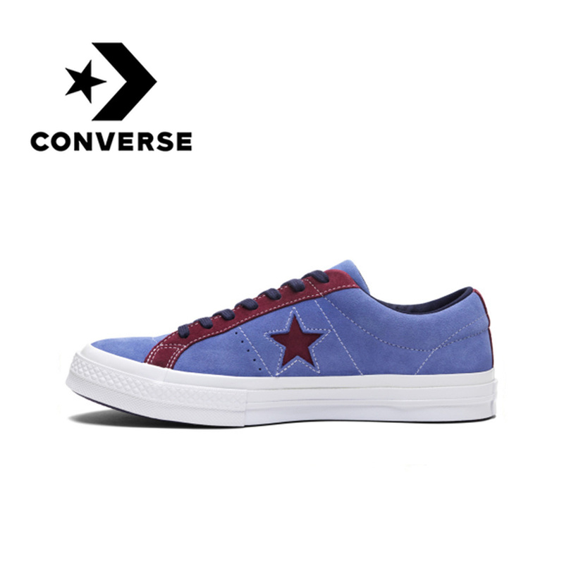 Converse One Star Unisex Skateboarding Shoes Light Comfortable Wear-resistant Canvas Sneakers Sport For Men And Women 161613C