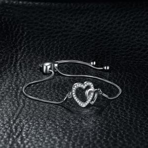 Image 3 - שני לב צמיד 925 כסף צמיד נחש שרשרת בולה צמידים לנשים כסף 925 תכשיטי ביצוע ארגונית