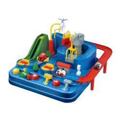 Детский пазл с ручным железнодорожным треком, автомобиль, приключения, игра, игрушки для детей, развивающая игрушка, цветная настольная игр...