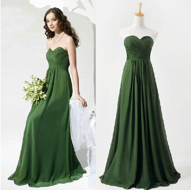 Free Shipping Vestido De Festa Vestido Longo Sweetheart Party Prom 2018 New Design Green Long Formal Elegant Bridesmaid Dresses