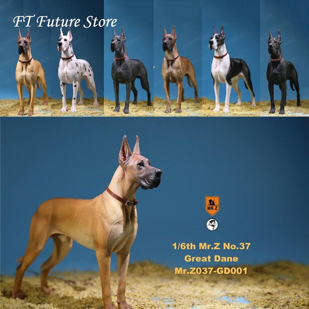 In Lager 1/6 Szene Zubehör Mr. Z MRZ037 Die Deutsch Great Dane 6 farben Haustier Hund Modell Tier Abbildung Modell Spielzeug für 12 ''Körper