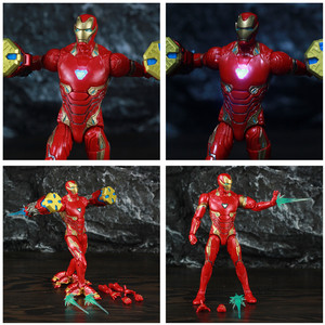 "Image 2 - Original ML Legends Avenger Iron Men MK50 LED 6"" Action Figure Nano Weapons Hammer Suit SHF 10TH Thanos Dr Strange 3P Toys Doll"