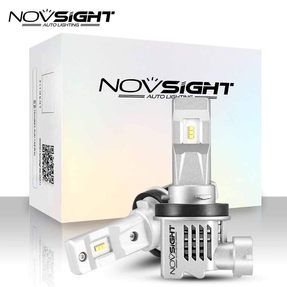NOVSIGHT 2PCS mini <font><b>h7</b></font> <font><b>LED</b></font> Car Headlight 12v H11 H4 9005 9006 HB3 HB4 H1 H3 car light <font><b>55W</b></font> 6000K White Auto <font><b>LED</b></font> <font><b>Lamps</b></font> 1:1 DESIGN image