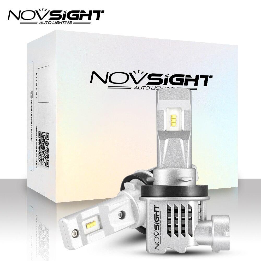 NOVSIGHT 2PCS mini h7 LED Car Headlight 12v H11 H4 9005 9006 HB3 HB4 H1 H3 car light 55W 6000K White Auto LED Lamps 1:1 DESIGN
