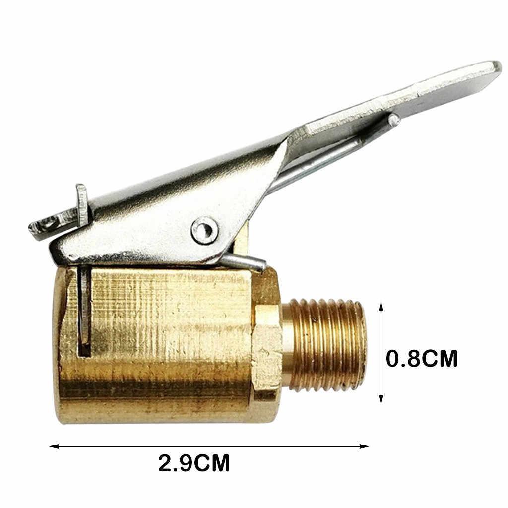 2 piezas de latón para coche, 8mm, rueda, neumático, inflador, bomba, válvula, pinza, conector, adaptador, accesorios para el compresor