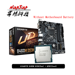 Intel Core i9 10900K ES QTB2 CPU + GA B460M DS3H Motherboard Suit LGA 1200 CPU + Motherbaord Suit Without cooler