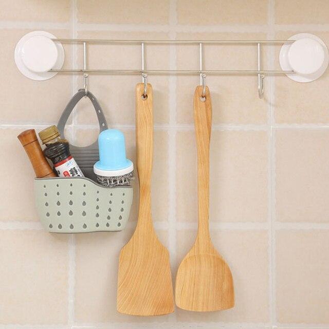 Best Promo 03645f Kitchen Gadgets Sink Dish Cloth Sponge Holder Hanging Bag Portable Hanging Basket Storage Sink Pouch Drain Rack Kitchen Storage Cicig Co