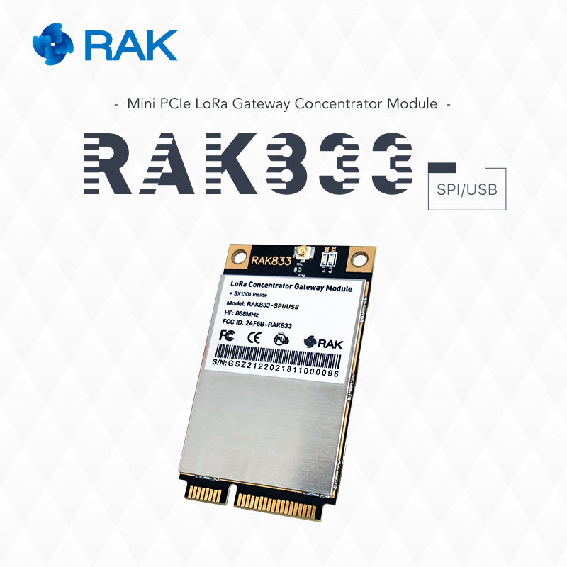 RAK833 Industrial Mini PCIE LoRa Gateway Module With Development Board Supports SPI / USB Dual Interface