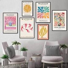 Henri matisse posters e cópias da arte da parede pintura em tela linha abstrata fotos para sala de estar moderna decoração