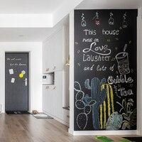 Креативная Новинка 45x200 см меловая доска Черная Виниловая доска для рисования доска для обучения в офисе уведомление школьные офисные прина...