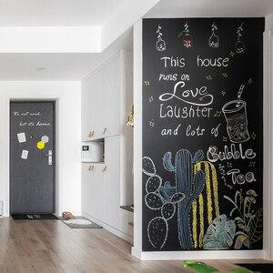 Creative Novelty 45x200cm Chalk Board Blackboard Vinyl Draw Chalkboard Learning Office Notice School Office Supplies
