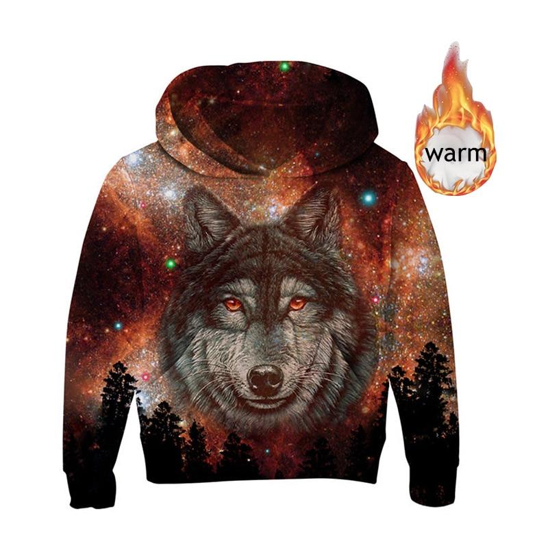 New Wolf 3D Hoodie Boys Sweatshirt Boys//Girls Hoodies Long Sleeve Pullover Novelty Casual Kids Animal Coats