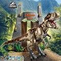 Парк и мир Юрского периода T.REX Rampage Дино набор динозавров строительные блоки кирпичи совместимые lepinglys 75936 игрушки Детский Рождественский по...