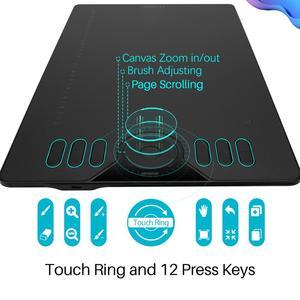 Image 3 - Huion HS610 Android Hỗ Trợ Pin Máy Tính Bảng Vẽ Đồ Họa Kỹ Thuật Số Máy Tính Bảng Vẽ Có Thể Hiện Các Phím Chức Năng Quay Và