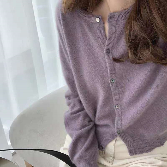 Ailegogo New 2020 Women's Sweaters Autumn Winter Fashionable Korean Style Wild Knitted Buttons Cardigans Lady Knitwear SWC1043 6