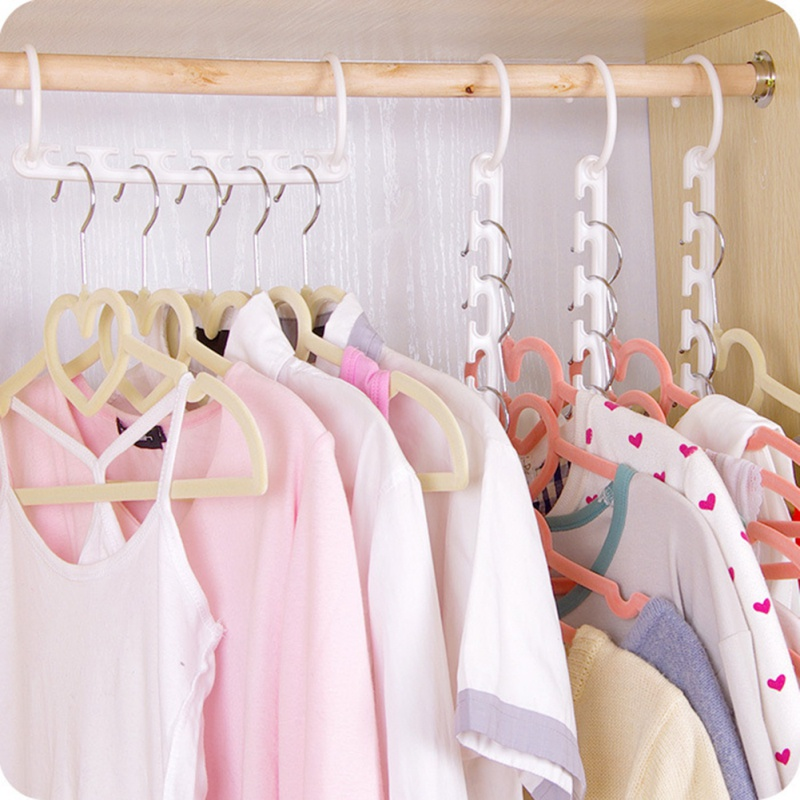10PCS Set 3D Space Rotatable Foldable Saving Space Hanger Magic Clothes Hanger with Hook font
