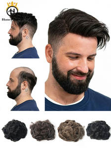 Male Wig Hair-Toupee Skin Pu-Replacement-System Human-Hair Natural-Looking for Hombre