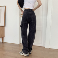 Jeans Loose Casual Straight Leg Highwaist  1