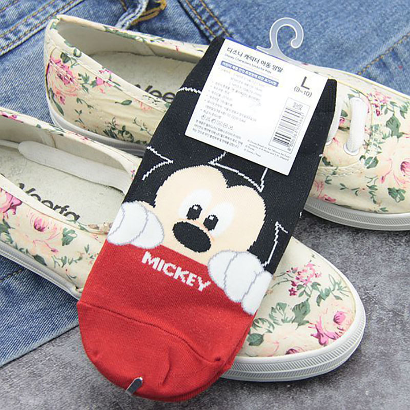 Disney Characters Infant Ankle Socks Mickey Mouse Toddler Baby Donald Anti-slip