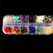 Natural Stone Crushed stone Crystal Stone Rock Gravel Tumble Stones 2-4mm 12 colors/lot Living Memory Locket Jewelry Accessories