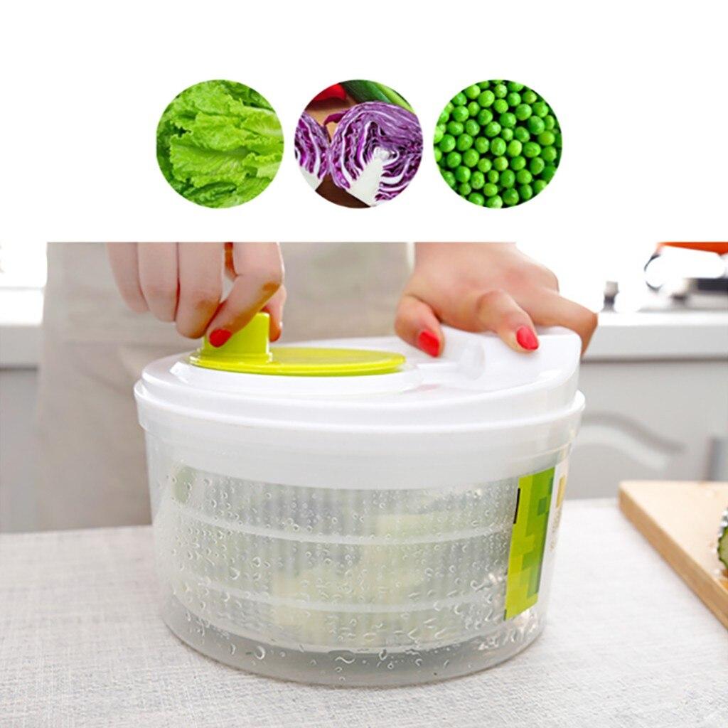Salad Spinner Lettuce Greens Washer Dryer Drain Crisper Strainer For Washing Drying Leafy Vegetables Kitchen Accessories#Y2
