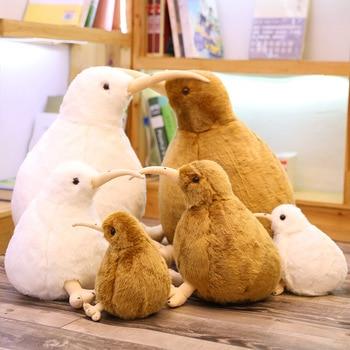 цена на New Zealand Kiwi Bird Plush Toy Soft Stuffed Animal Simulation Birds Doll Kids Toys Home Decor Children Birthday Christmas Gifts